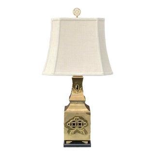 Paul Hanson Chinoiserie Brass Lamp For Sale