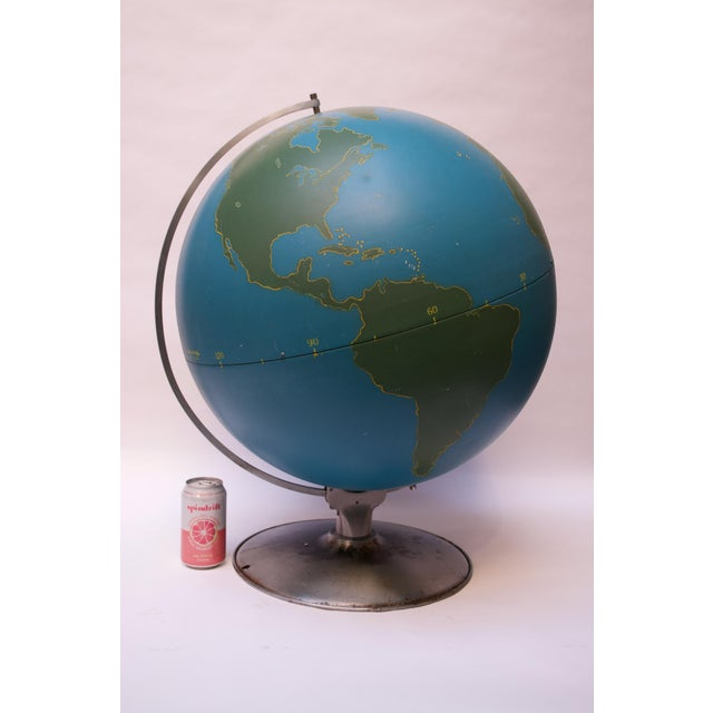 Large-Scale Vintage Military Globe / Activity Globe by a.j. Nystrom For Sale In New York - Image 6 of 13