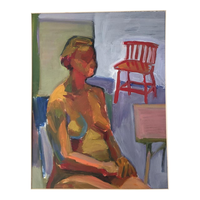 Original Abstract Painting of Seated Nude - Image 1 of 9
