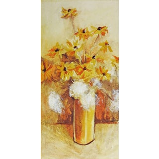 Yellow Daisies Still Life Watercolor Painting For Sale