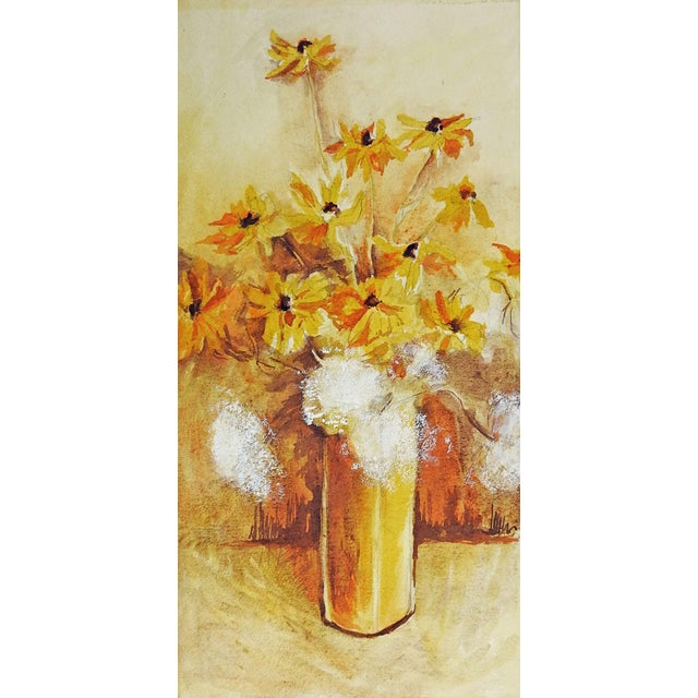 Yellow Daisies Still Life Watercolor Painting - Image 1 of 3