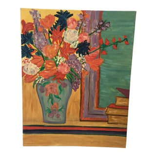 Zee Caplan Floral & Boos Acrylic Painting