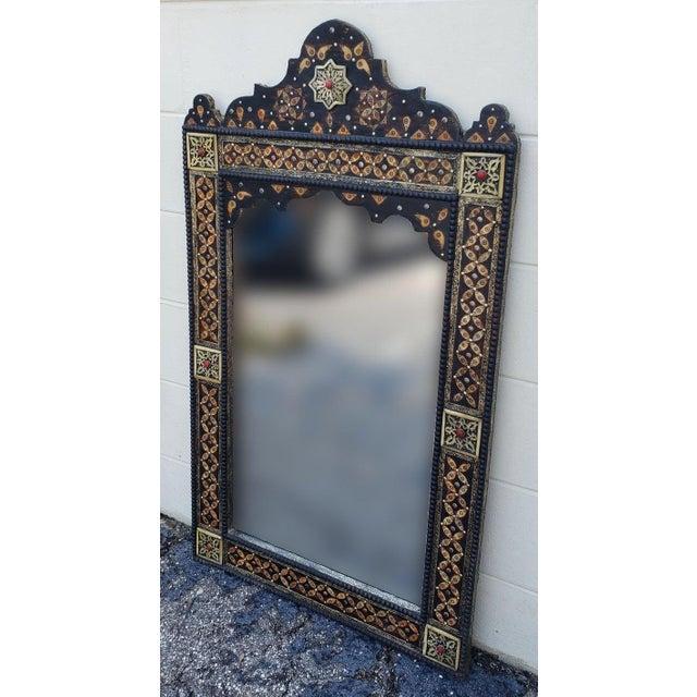 Islamic Marrakech Rectangular Inlay Mirror For Sale - Image 3 of 7