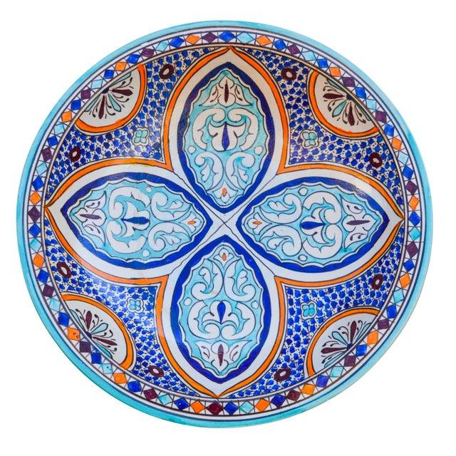 Andalusian Motif Ceramic Bowl For Sale - Image 4 of 9