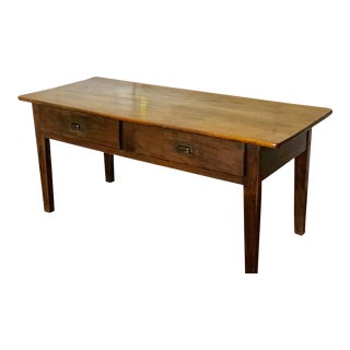 19th Century Cherry Console Table With Drawer For Sale