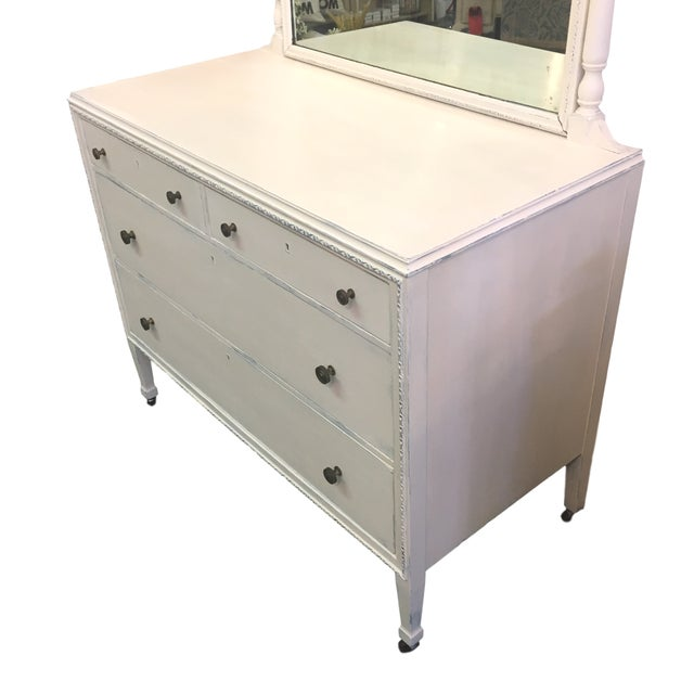 Vintage Hand Painted Dresser & Mirror - Image 6 of 9