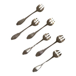 French Empire Oyster Forks - Set of 6 For Sale