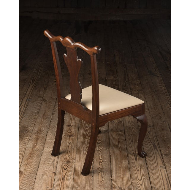 1990s Vintage Madison Square Furniture Chippendale Style Mahogany Side Chair For Sale In Philadelphia - Image 6 of 13