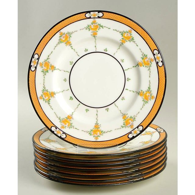 Yellow Minton #B930 Salad Plate - Set of 8 For Sale - Image 8 of 8