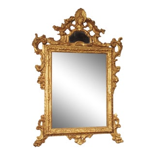 Antique Giltwood Mirror From Venice, Italy, Circa 1730 For Sale