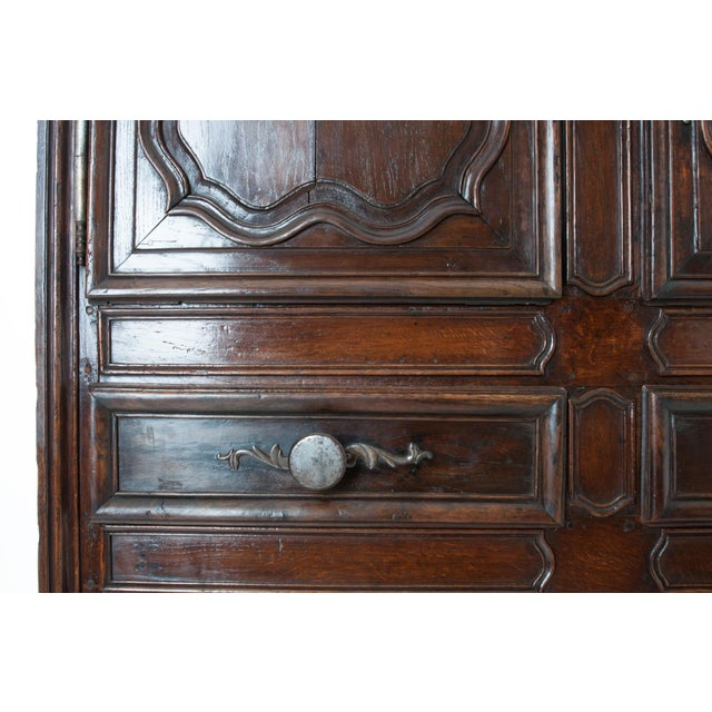 Metal French 18th Century Dark Oak Homme Debout / Cupboard For Sale - Image 7 of 10