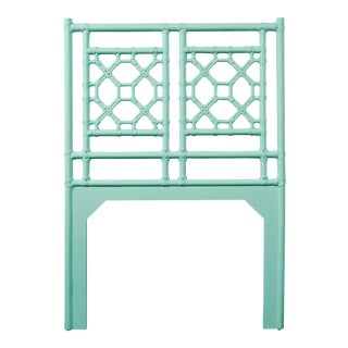 Lattice Back Headboard Twin - Turquoise For Sale
