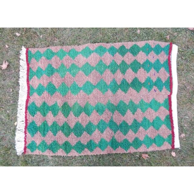 Islamic Modern Turkish Angora Tulu Rug For Sale - Image 3 of 12