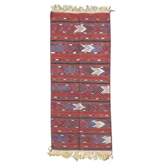 Yomut Flatweave Rug - 3′8″ × 7′3″ For Sale