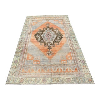 1970s Turkish Area Rug- 3′ × 8′6″ For Sale
