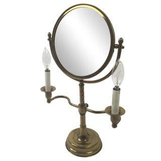 Antique Brass Candelabra Vanity Mirror