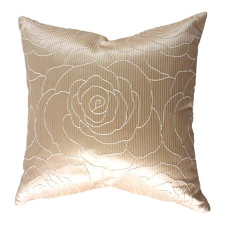 Blush Camellia Beacon Hill Throw Pillow