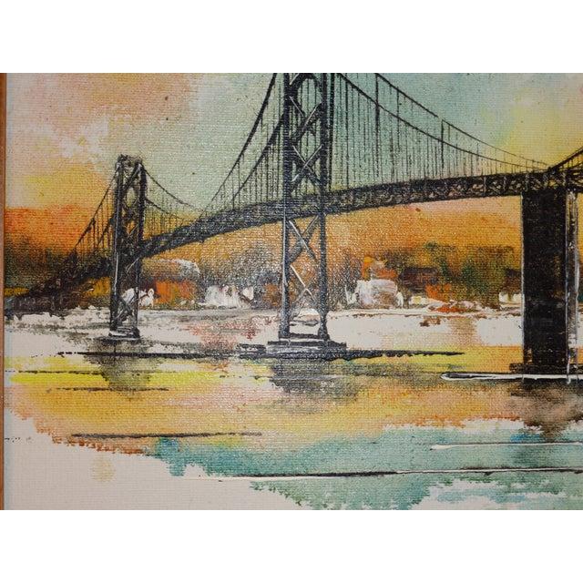 White Impressionist Bay Bridge by Adriano Marchello For Sale - Image 8 of 11