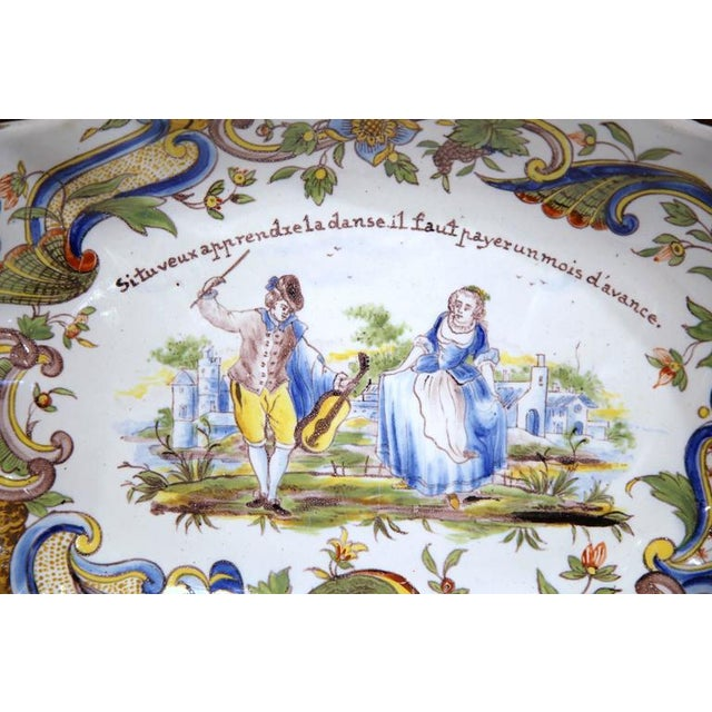 19th Century Hand Painted Oval Platter For Sale - Image 5 of 8