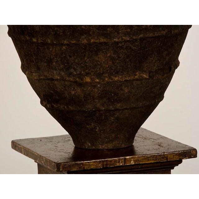 Ceramic 19th Century Italian Raised Decoration Terra Cotta Urn For Sale - Image 7 of 8