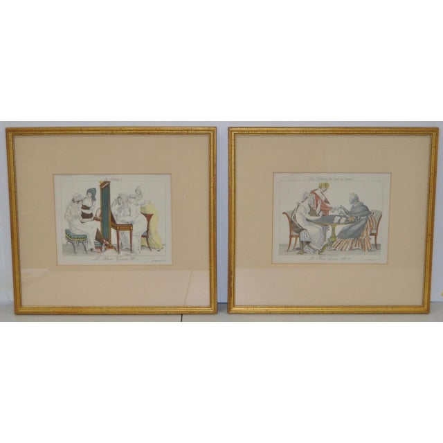 French Hand Colored Engravings - A Pair - Image 2 of 8