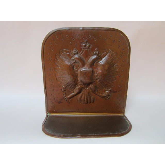 Arts & Crafts Copper Bookends - A Pair For Sale - Image 4 of 9