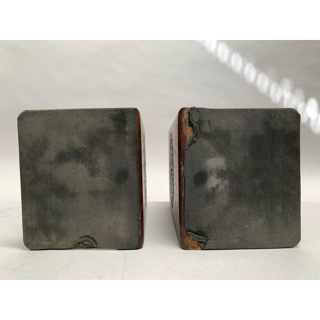 Mid-Century Modern Walnut and Tile Bookends - a Pair For Sale - Image 9 of 10