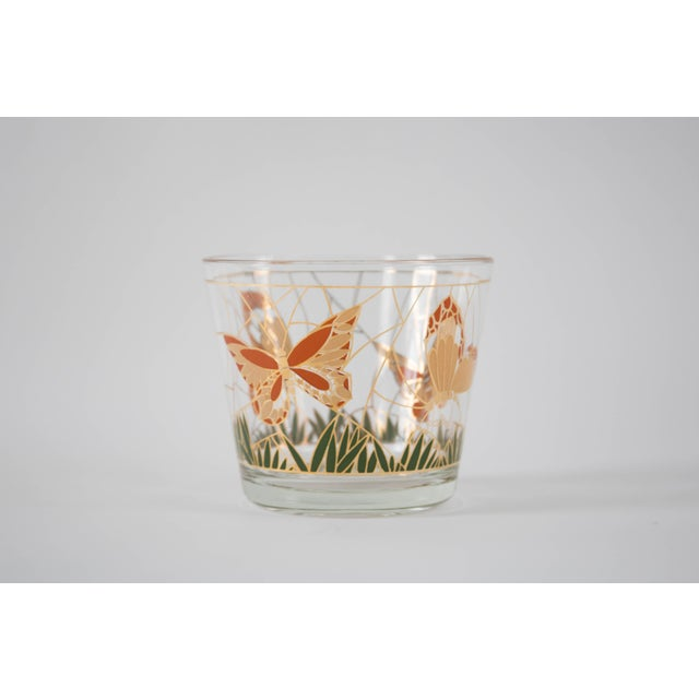 Culver Glass Butterfly Ice Bucket - Image 2 of 5