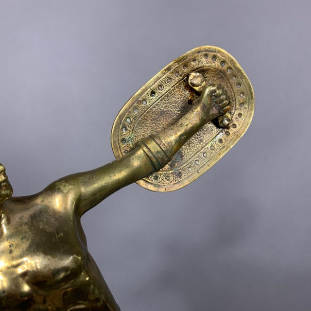 F. Thierman Bronze Gladiator Sculpture C.1900, Germany For Sale - Image 4 of 10
