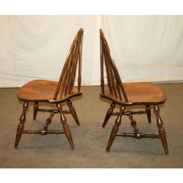 Country Antique Windsor Wooden Chair For Sale - Image 3 of 7