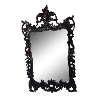 Woodson & Rummerfield Black Lacquered Mirror For Sale
