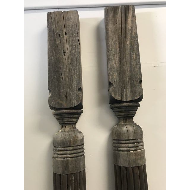 Early 20th Century Antique Architectural Columns - a Pair For Sale - Image 5 of 6