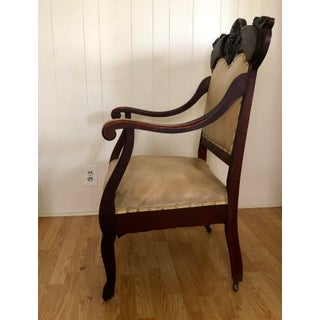Late 19th Century Antique Hand-Carved Victorian Throne Arm Chair Preview