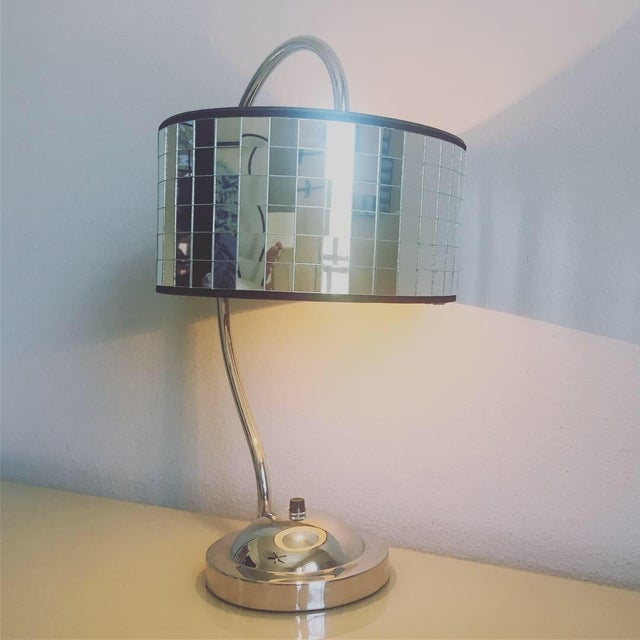 Hollywood Regency Lamp & Shade For Sale - Image 10 of 10