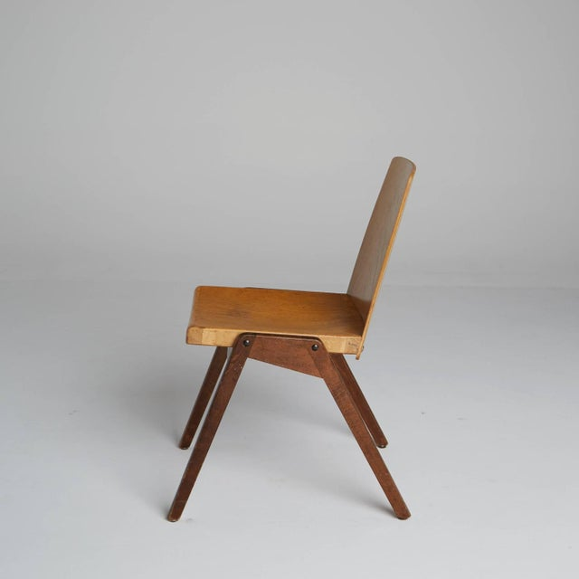 Modern Thonet Wood Stacking Chairs - A Pair For Sale - Image 3 of 10