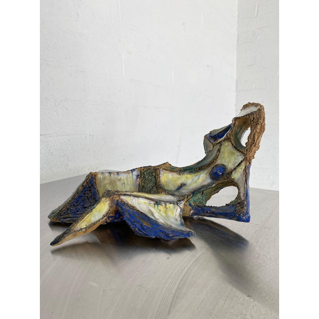 Yellow Mid Century Marcello Fantoni for Raymor Female Figural Sculpture For Sale - Image 8 of 9