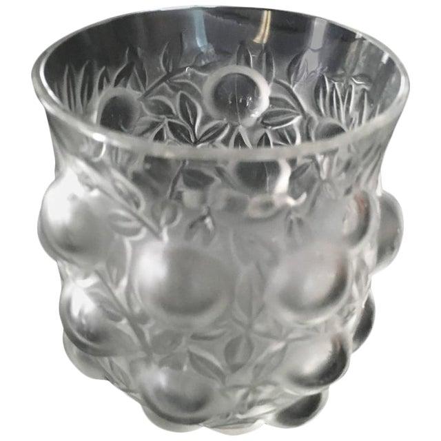 Signed R. Lalique Bud Vase For Sale