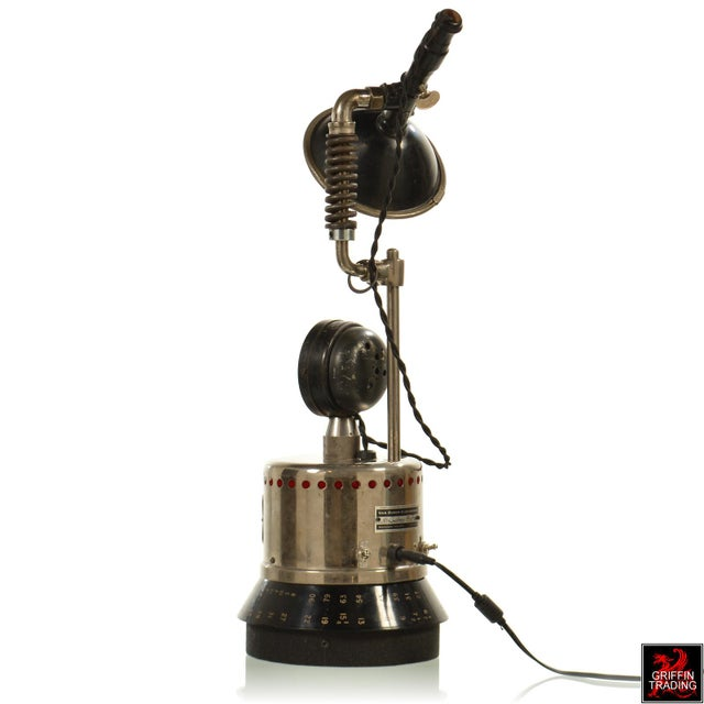 Industrial Custom Industrial Table Lamp For Sale - Image 3 of 8