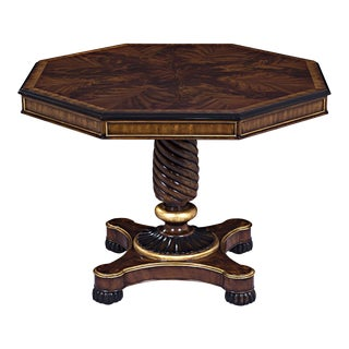 Scarborough House Octagonal Crotch Center Table For Sale