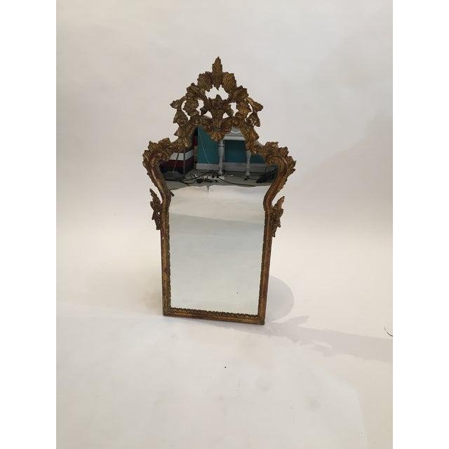 Antique Italian Gothic Gold Leaf Mirror - Image 10 of 11