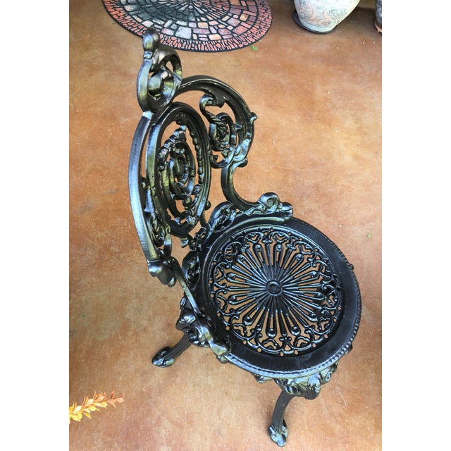 Early 20th Century Early 20th Century French Victorian Cast Iron Garden Chair by Atlanta Stove Works For Sale - Image 5 of 13