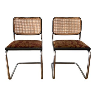 1970s Vintage Marcel Breuer Cesca Side Chairs- A Pair For Sale
