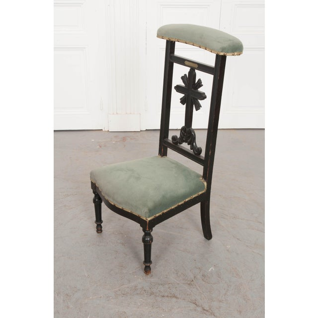 French 19th Century Upholstered and Ebonized Prie Dieu For Sale - Image 11 of 13
