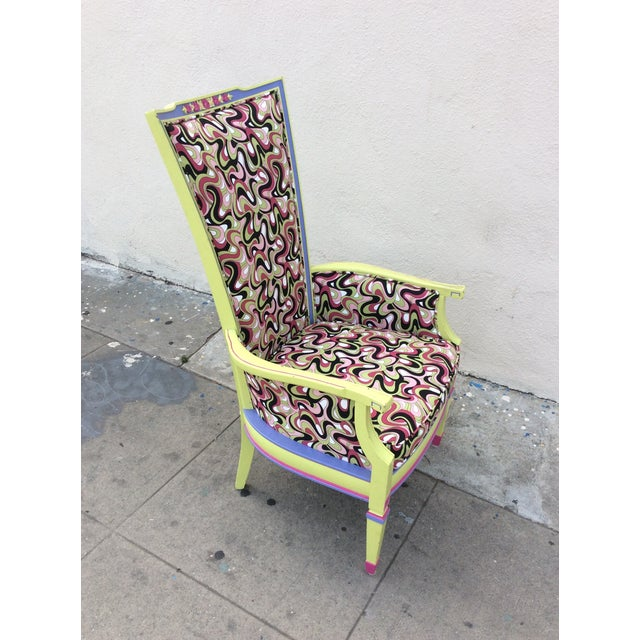 Multicolor High Back Chair - Image 4 of 7