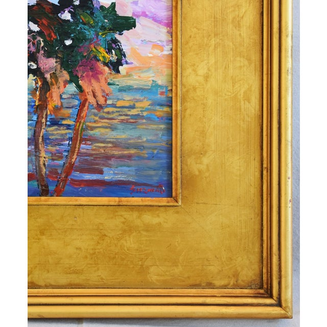 Late 20th Century California Impressionist Landscape Seascape Painting by Juan Guzman For Sale - Image 5 of 9