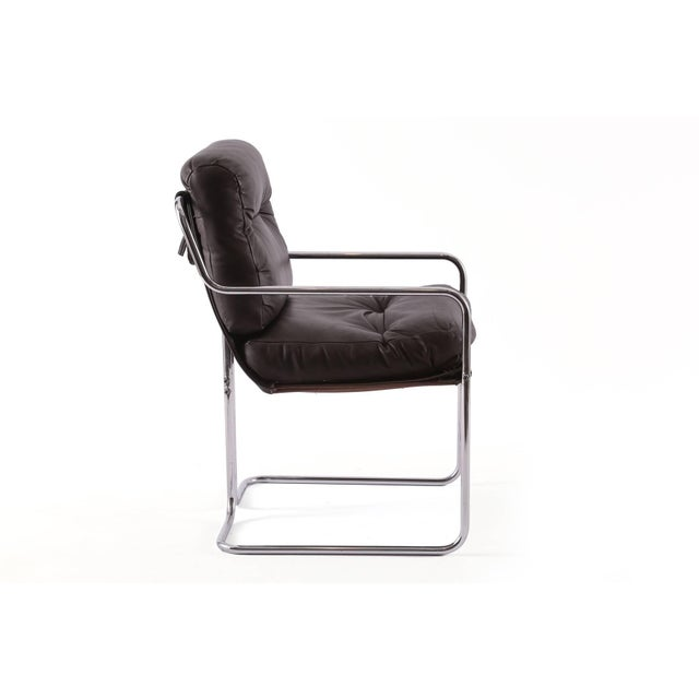 Guido Faleschini for Pace Leather 'Tucroma' Chairs - Set of 4 For Sale In Phoenix - Image 6 of 8