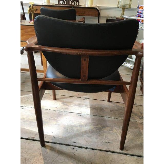 1950s Finn Juhl, Danish Mid-Century Modern Teak and Leather Armchair For Sale In Nantucket - Image 6 of 10