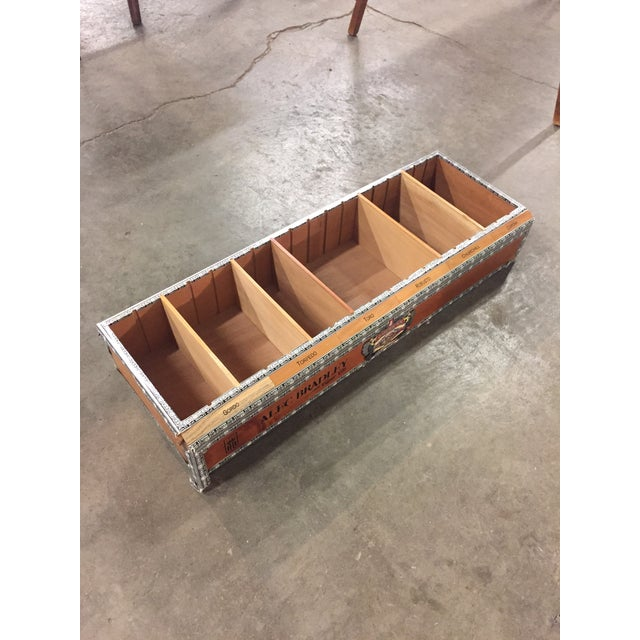 "Vintage cedar Alec Bradley cigar box oversized retail display. 26"" wide by 9"" deep."