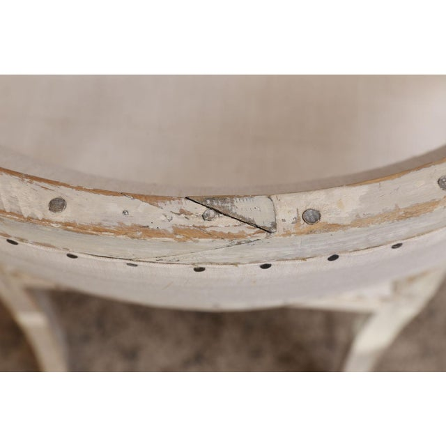 Early 19th Century Pair of 19th Century Swedish Armchairs For Sale - Image 5 of 9