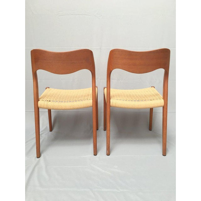 niels moller danish modern teak cord 71 chairs set of 4 chairish